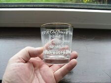 H.R.H. PRINCE OF WALES & LADY DIANA SPENCER ROYAL WEDDING WHISKEY GLASS 1981