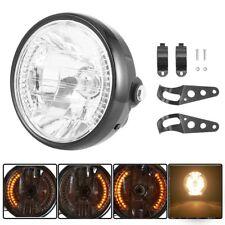 "7"" Motorcycle Motorbike Front Lamp Headlight Bracket Clamp Universal Amber Light"