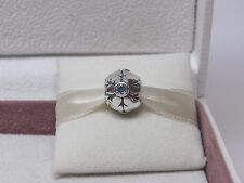 New w/Box Pandora Aqua Snowflake CZ Winter Charm 790367CZA Christmas Snow