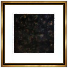 Sol Lewitt Color Aquatint Hand Signed Large Abstract 40x40 Black Modern Artwork