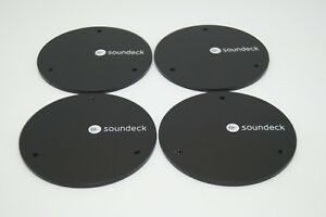 4 X Speaker Sound Damping Isolation Feet Soundeck Round 80mm