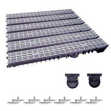 Grau Line komplett Stegrost Kunststoff 4m Entw/ässerungsrinne f/ür modulares System A15 98mm