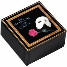 The San Francisco Music Box Phantom of The Opera Mask and Rose Glass Music Box