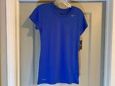 NIKE Women's Dri-Fit Performance Short Sleeve Top XS  #349014-493 Royal Blue NWT
