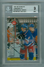 Wayne Gretzky 1997-98 Donruss Canadian Ice Provincial Card #5 Rangers BGS 9 MINT