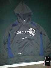 New Youth Boys Nike Georgia Tech Yellow Jacket Pullover Hoodie SZ 4