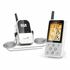 Ivation Extended Range Wireless Cooking Thermometer Dual Probe Remote Bbq