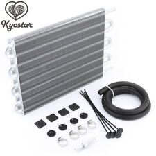 8 Row Aluminum Remote Transmission Oil Cooler/Auto-Manual Radiator Converter Kit