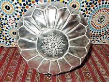 Moroccan Pouf silver Moroccan faux leather pouf ottoman footstool handmade pouf