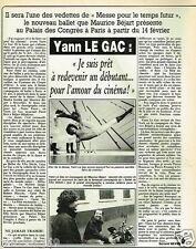Coupure de Presse Clipping 1984 (3 pages) Yann Le Gac