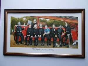 PRINTS BY JEDD LARGE SIZE FRAMED - THE BRIGADE - NINE READY AND WILLING