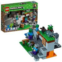 LEGO 21141 Minecraft The Bat Infested Zombie Cave Adventures Building Toy Set