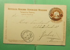 DR WHO 1904 MEXICO TAMPICO POSTAL CARD TO GERMANY  g11996