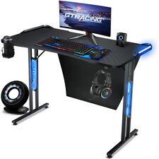 Gtracing Gaming Deskled Lighting Computer Racing Style Gaming Desk