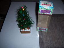Rare Vtg Adorable Light Up Aluminum Tinsel Miniature Christmas Tree In Box