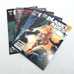 LOT of 5 Planet Of The Apes Boom Comic Books, BOOM! Bagged And Boarded 3 7 8 10