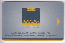 CARTE / CARD  HOTEL CLE  KEY .. ANDORRE ESPAGNE HLG RESORT HOTELES MAGNETIQUE
