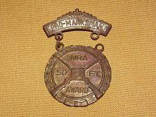 VINTAGE GUN RIFLE NRA PRO MARKSMAN 50 FT AWARD MEDAL PIN