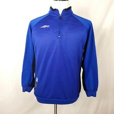 UMBRO Training Jacket Mens Small PPT Official Team Wear 1/4 Zip Pull on Blue