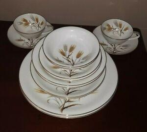 14 pc set for 2 NORITAKE Wheaton DISH SET 5414  Vintage China - Japan