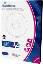 100 Mediarange BD / CD / DVD Label matt 41 mm bis 118 mm