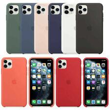 Funda para Apple iPhone XR XS-X 8 7 6S 6 Plus Original carcasas Silicona Genuina