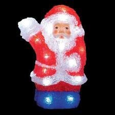 LED Batteria Luce Fino Acrilico Decorazione di Natale - 22cm Babbo