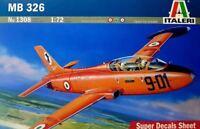 AERMACCHI MB 326 (AUSTRALIAN, BRASILIAN & ITALIAN AF MKGS)#1308 1/72 ITALERI