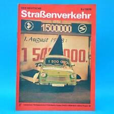 Der Deutsche Straßenverkehr 9/1978 DDR Runderneuerung Wohnanhänger Zündanlage F