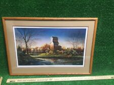 """1993 Terry Redlin """"Above the Fruited Plain"""" Matted & Framed Signed #2483 wow"""
