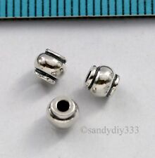 4x OXIDIZED BALI STERLING SILVER ROUND CANDY SPACER BEAD 4.5mm #2905