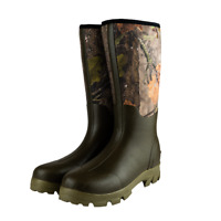 Jack Pyke Mens Camo Wellies Neoprene Wellington Muck Boots Hunting EVO Real Tree