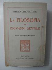 Raro Introvabile antico libro La filosofia di Giovanni Gentile 1922