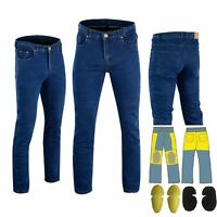 Men Motorbike Motorcycle Blue Jeans Reinforced Made With DuPont™ Kevlar® Fiber