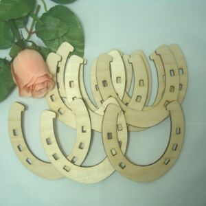 Hufeisen aus Holz Glücksbringer Geschenk zu jedem Anlass Dekoration Streuteile