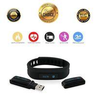 Heart Rate Monitor Fitness Activity Tracker Black Smart Bracelet Pedometer HR