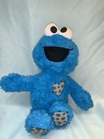 PLUSH Sesame Street GUND Soft COOKIE Monster HEART Stuffed Animal Doll  (E1)