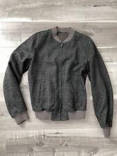 DOLCE & GABBANA D&G Bomber Jacket Wool Charcoal NEW Size: 48 medium