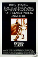 Dressed to kill Angie Dickinson vintage movie poster