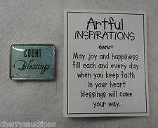 p COUNT BLESSINGS blessing ARTFUL INSPIRATIONS POCKET TOKEN CHARM reminder ganz