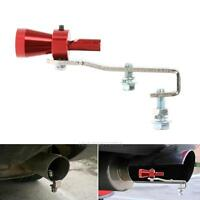 S Car Turbo Sound Muffler Exhaust Pipe Blow Vale BOV Simulator Whistle Red