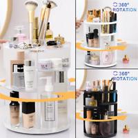 Makeup Cosmetic Rack Holder 360 Degree Rotating Skin Care Organizer Storage Box