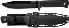 "Cold Steel 49LCK SRK Fixed Blade Tactical Knife 6"" Black SK-5 w/ Sheath"