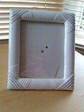 Photo Frame Ceramic White with Gold Detail