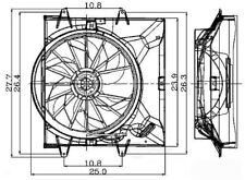 Engine Cooling Fan Assembly Global 2811479 fits 1999 Jeep Grand Cherokee 4.0L-L6