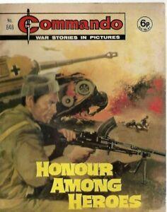 HONOUR AMONG HEROES,COMMANDO WAR STORIES IN PICTURES,NO.848,WAR COMIC,1974