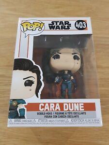 STAR WARS Cara Dune Funko Pop Vinyl 403 NEW + Pop Protector