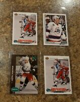 (4) Keith Tkachuk 1991-92 Upper Deck Czech Parkhurst RC 1992-93 Rookie card lot