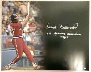 Frank Robinson Signed Photo 16x20 Indians Autograph Manager Inscrip Steiner Holo