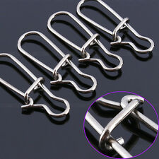Connector Stainless Steel 100Pcs 34mm Barrel Snap Swivel Rig Rings Fishing Lure